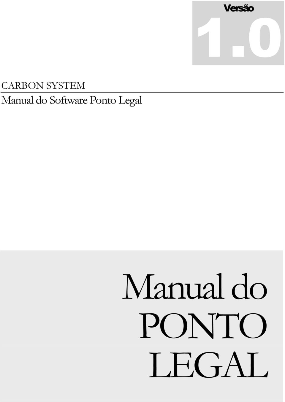 Manual do Software