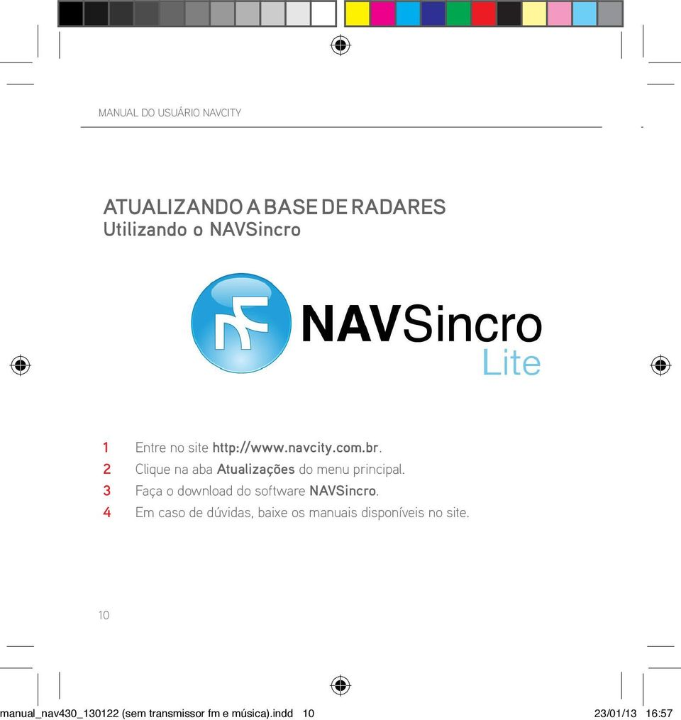 3 Faça o download do software NAVSincro.
