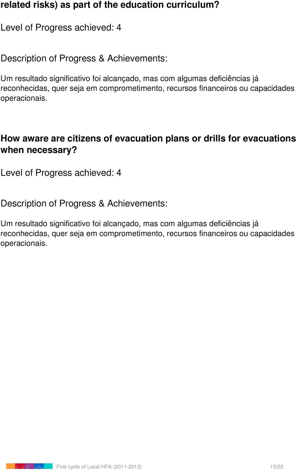 How aware are citizens of evacuation plans
