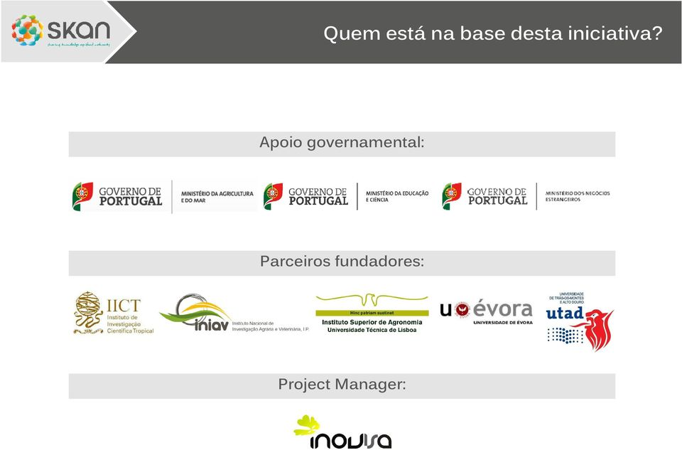Apoio governamental: