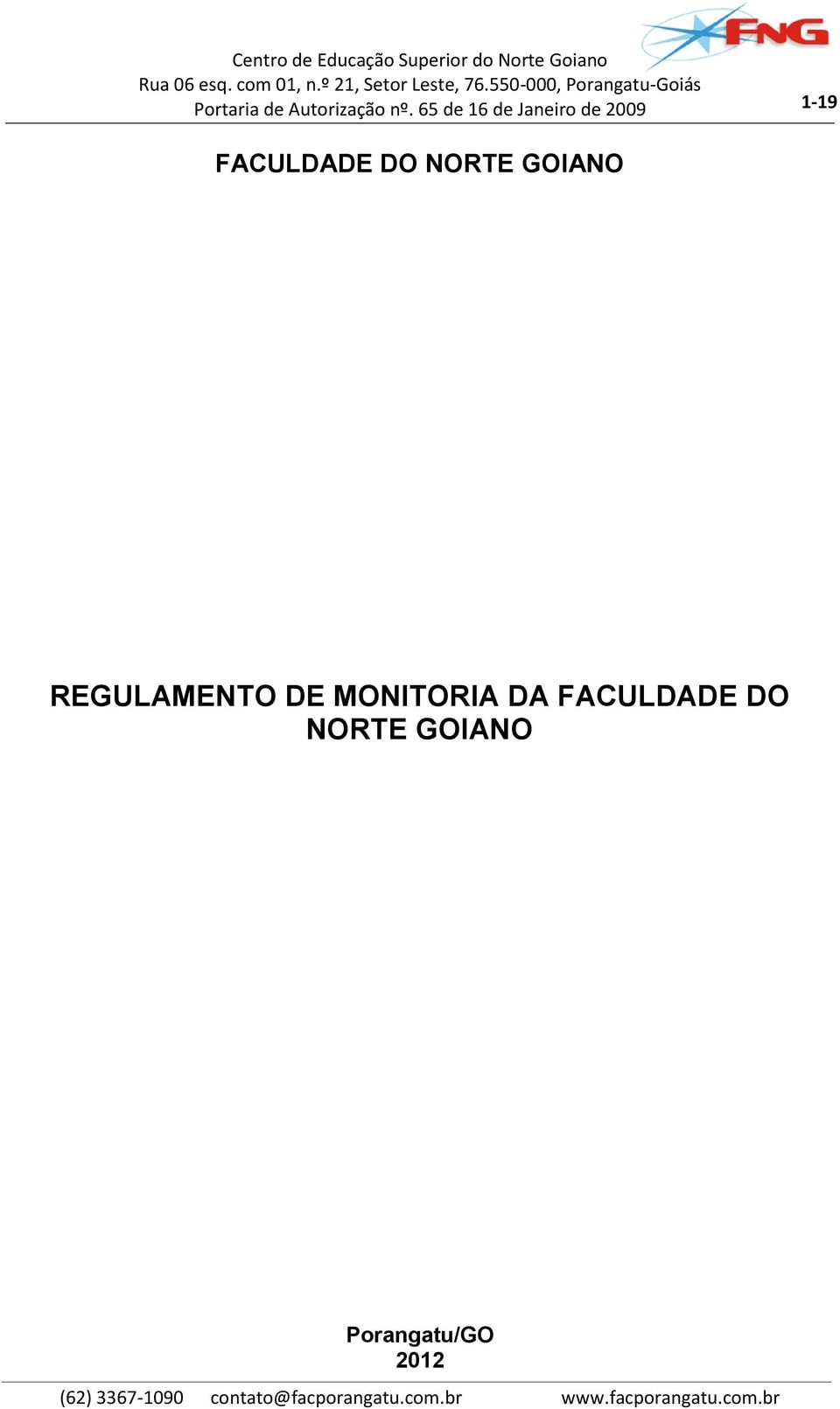 MONITORIA DA FACULDADE DO