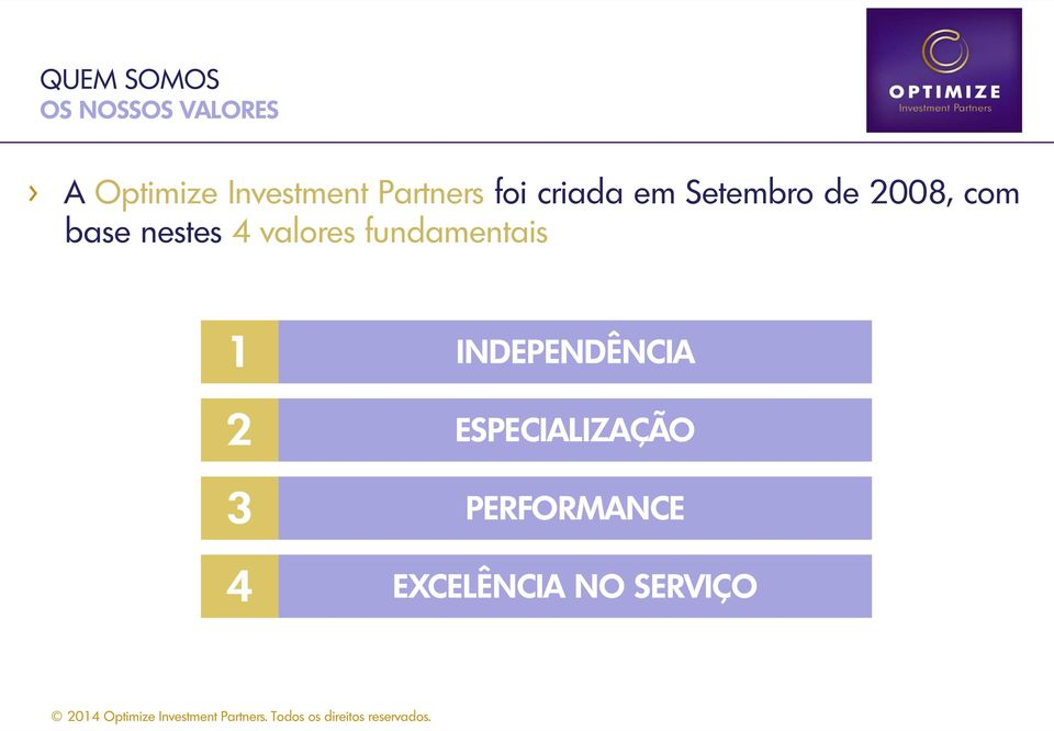 2008, com base nestes 4 valores fundamentais 1 2 3