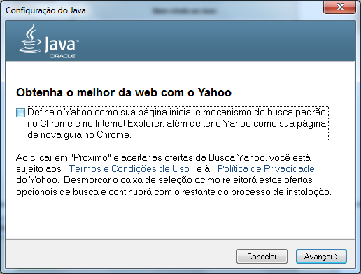 Aparecerá a tela Fazendo Download do Instalador Java. Figura 12 - Download do Instalador Java.