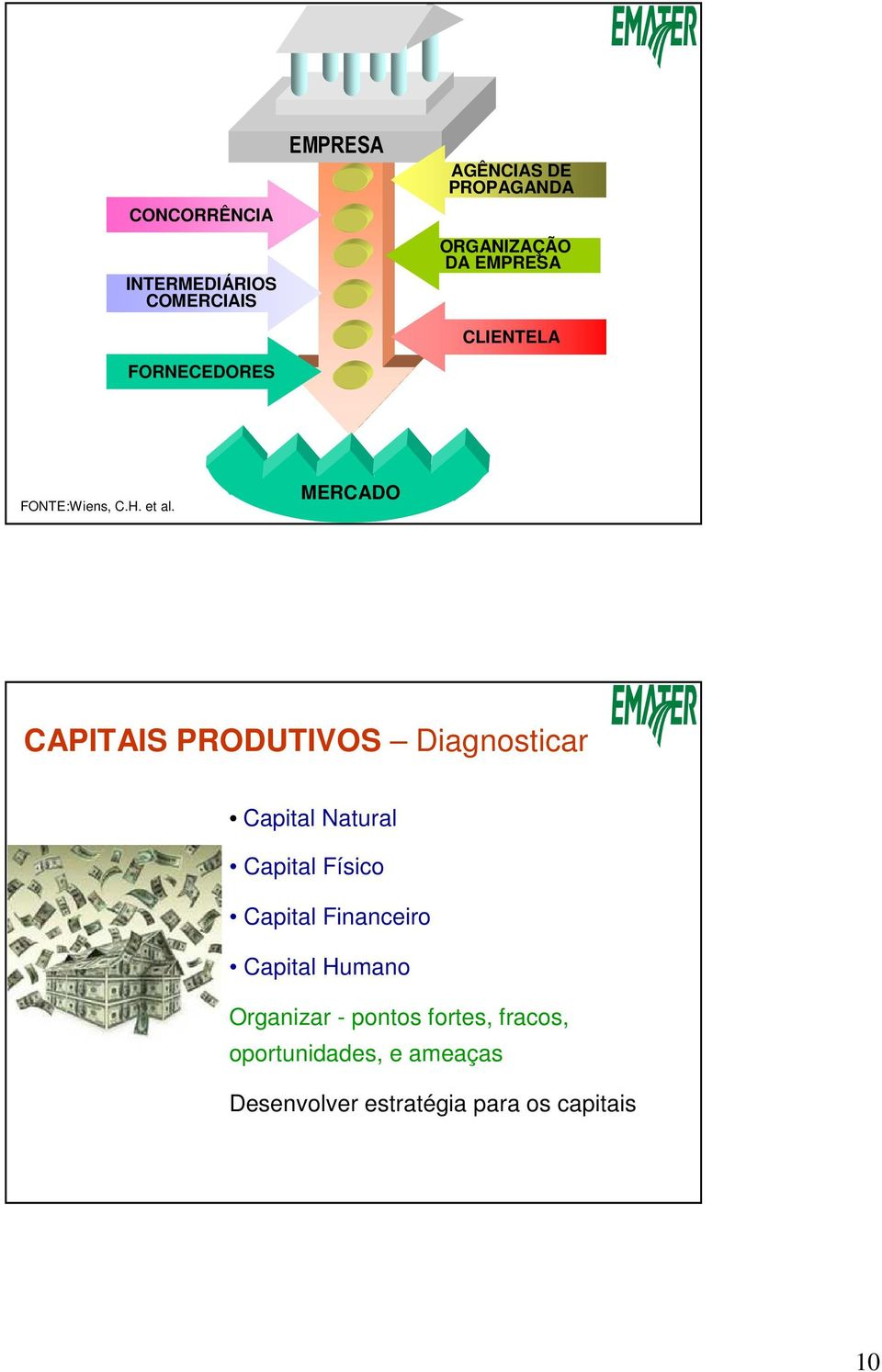 MERCADO CAPITAIS PRODUTIVOS Diagnosticar Capital Natural Capital Físico Capital