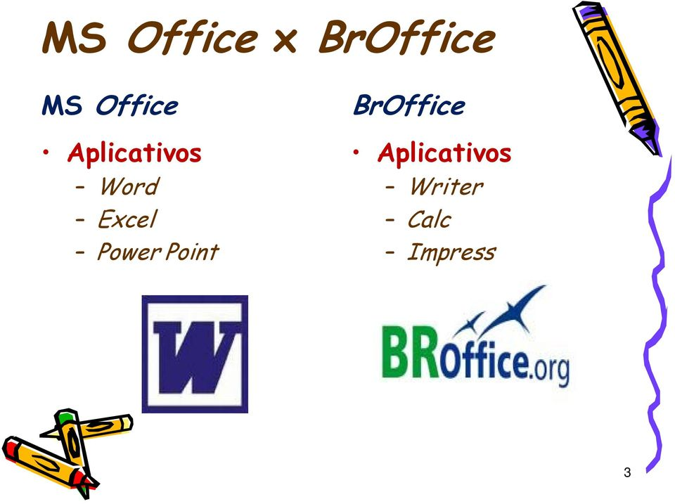 Excel Power Point BrOffice