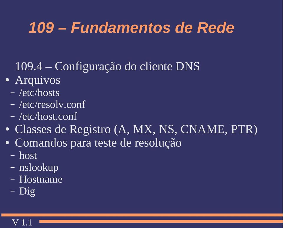 conf Classes de Registro (A, MX, NS, CNAME,