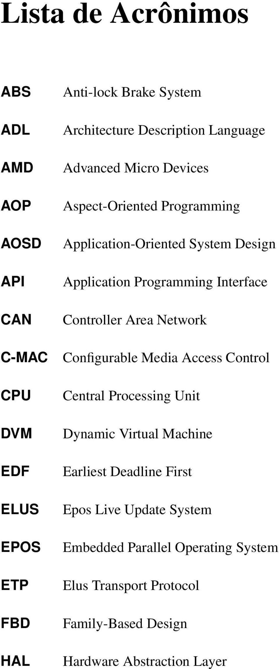 Interface Controller Area Network Configurable Media Access Control Central Processing Unit Dynamic Virtual Machine Earliest