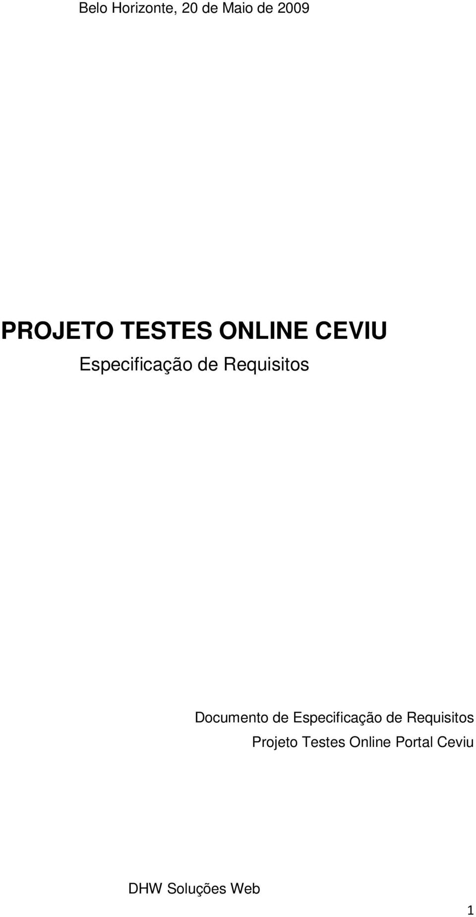 Requisitos Documento de Especificação de