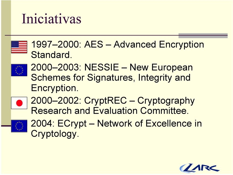 Integrity and Encryption.
