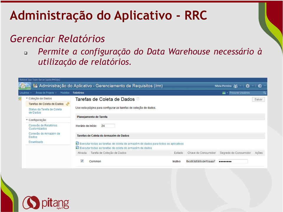configuração do Data Warehouse