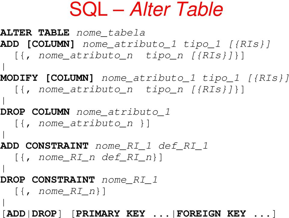 Sql structured query language pdf - Alter table add constraint primary key ...