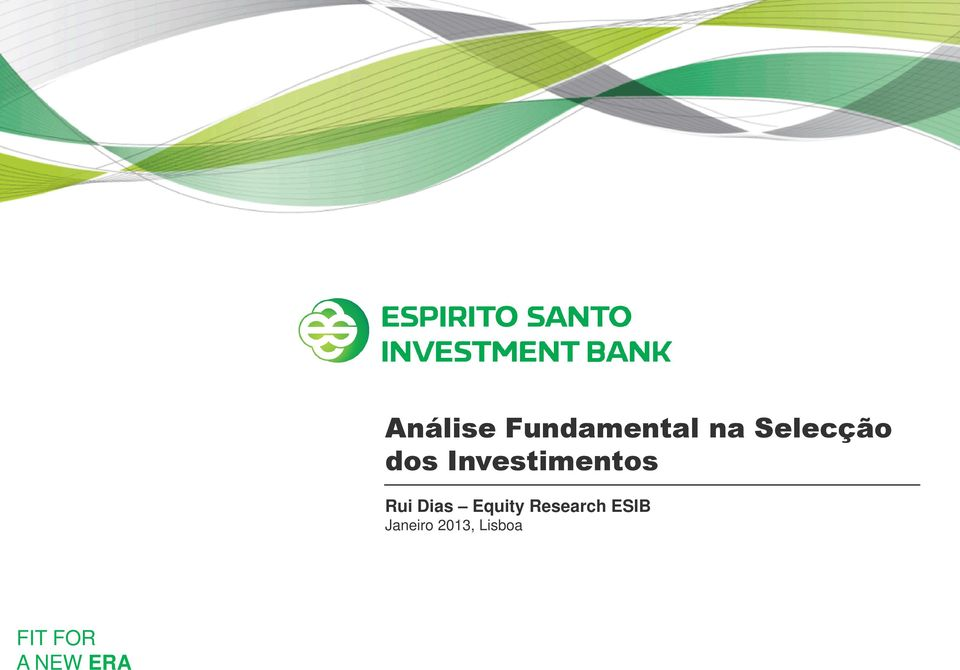 Rui Dias Equity Research ESIB