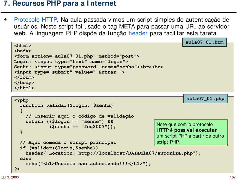 "php"" method=""post""> Login: <input type=""text"" name=""login""> Senha: <input type=""password"" name=""senha""><br><br> <input type=""submit"" value="" Entrar ""> </form> </body> </html> <?"