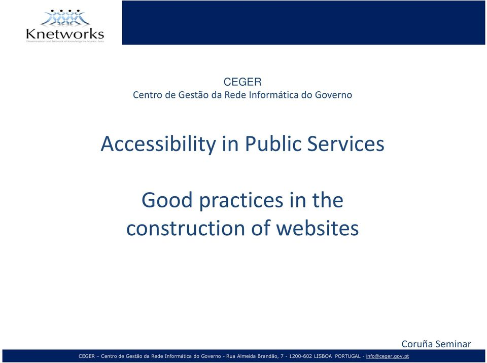 in Public Services Good practices in
