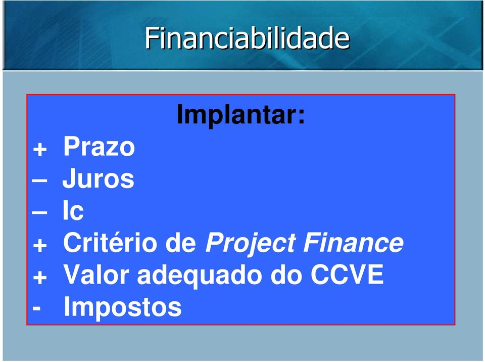de Project Finance + Valor