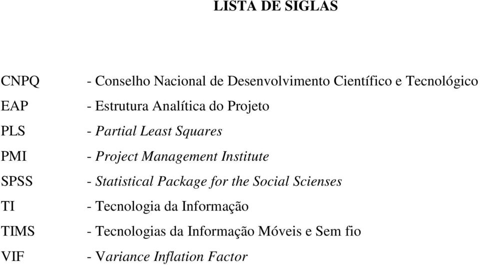 Least Squares - Project Management Institute - Statistical Package for the Social