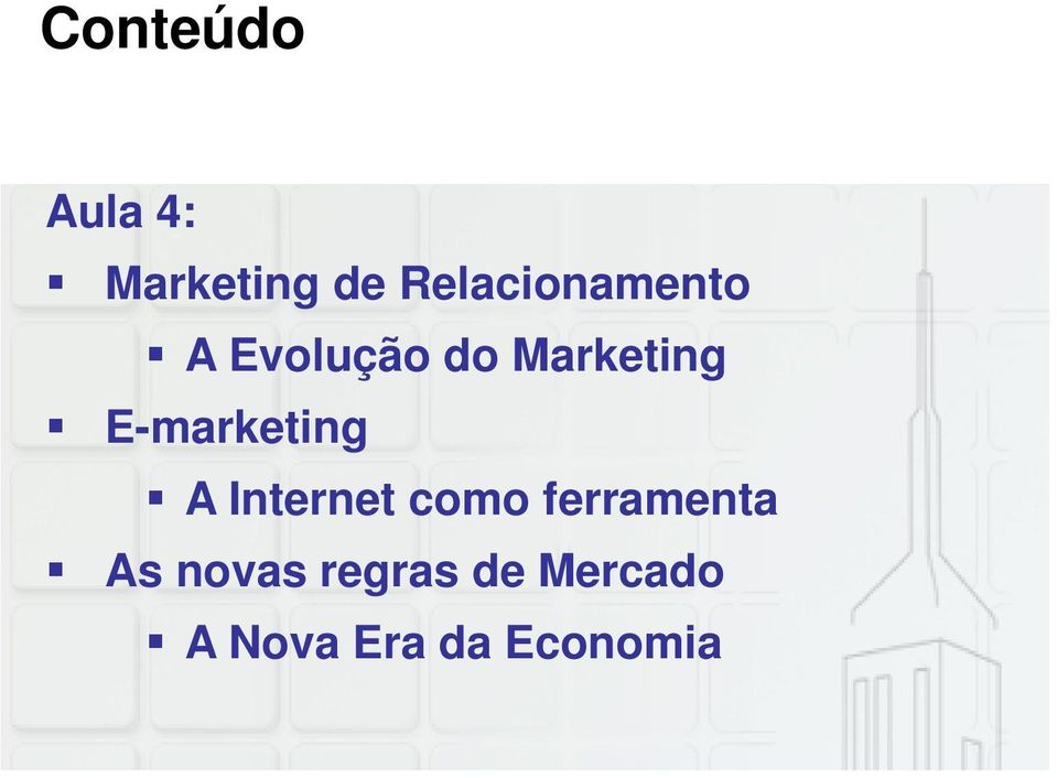 E-marketing A Internet como ferramenta