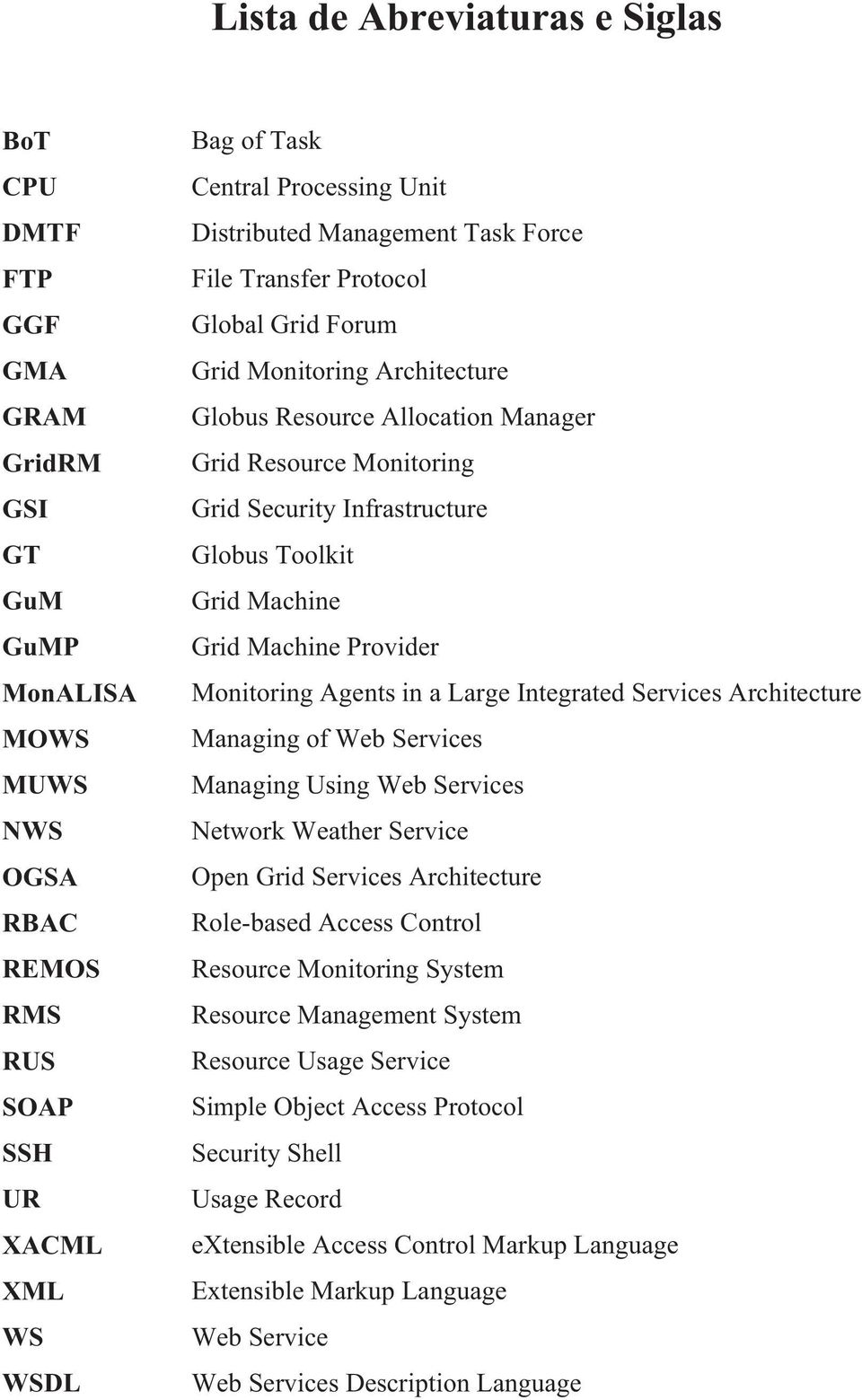 Toolkit Grid Machine Grid Machine Provider Monitoring Agents in a Large Integrated Services Architecture Managing of Web Services Managing Using Web Services Network Weather Service Open Grid