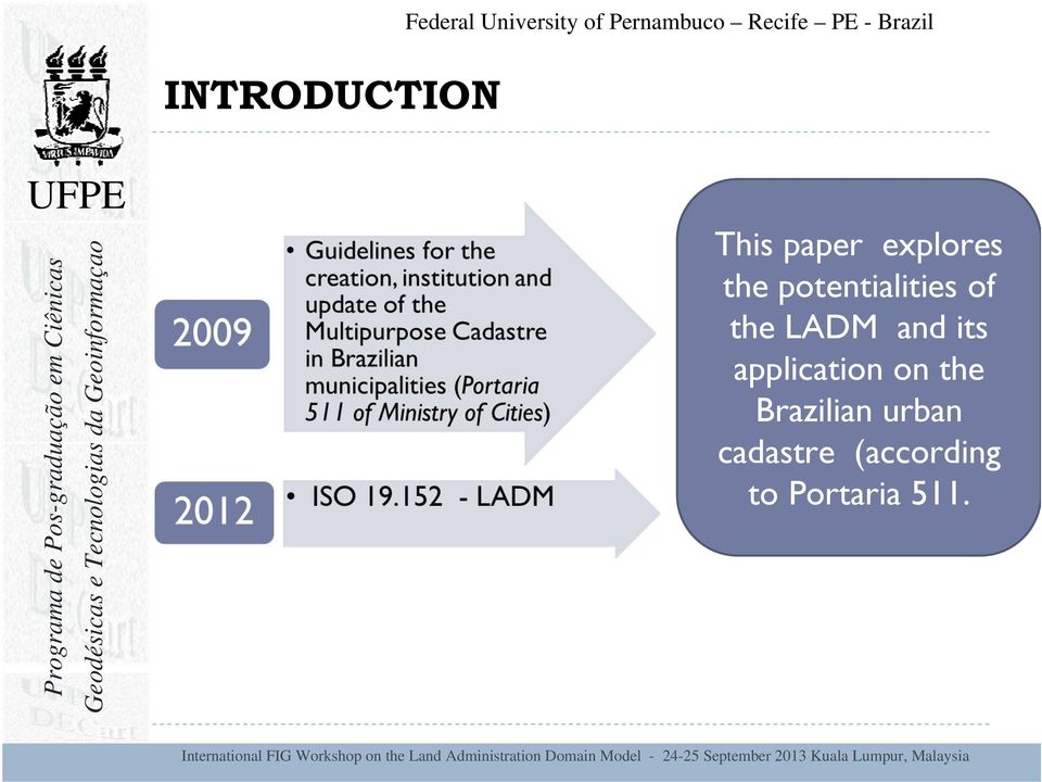 potentialities of the LADM and its application