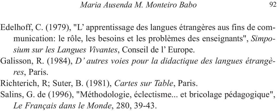 "enseignants"", Simposium sur les Langues Vivantes, Conseil de l Europe. Galisson, R."