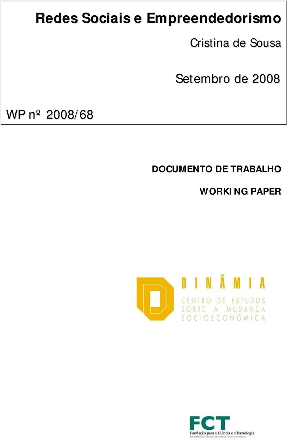nº 2008/68 DOCUMENTO