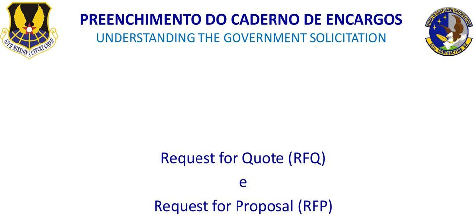 GOVERNMENT SOLICITATION Request