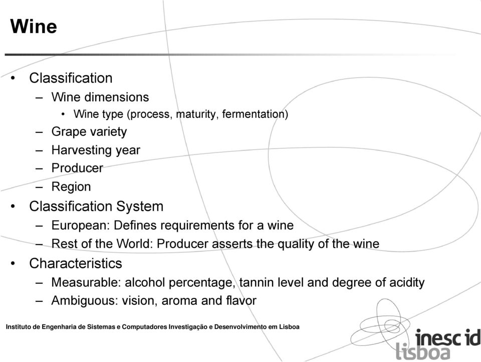 requirements for a wine Rest of the World: Producer asserts the quality of the wine