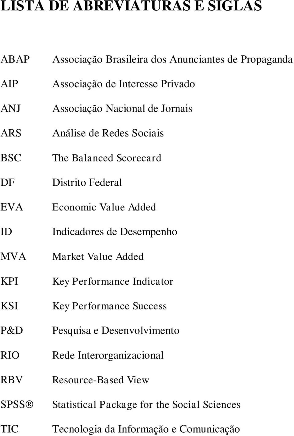 Federal Economic Value Added Indicadores de Desempenho Market Value Added Key Performance Indicator Key Performance Success Pesquisa e