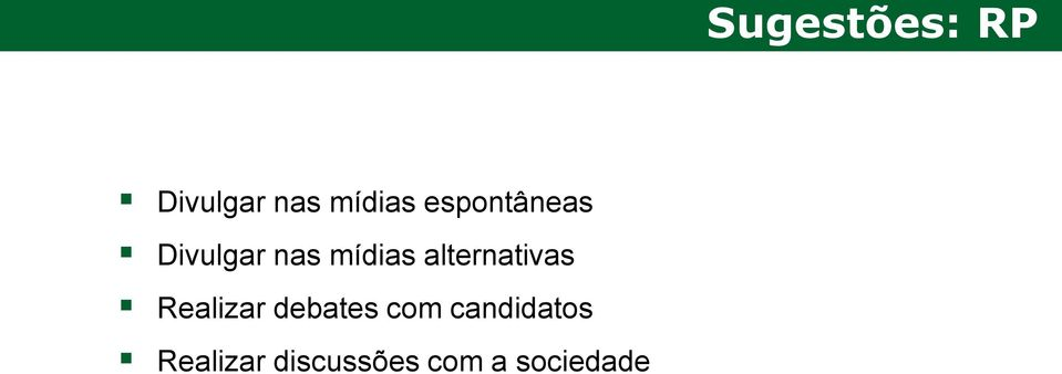 alternativas Realizar debates com