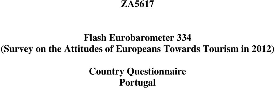 Europeans Towards Tourism in