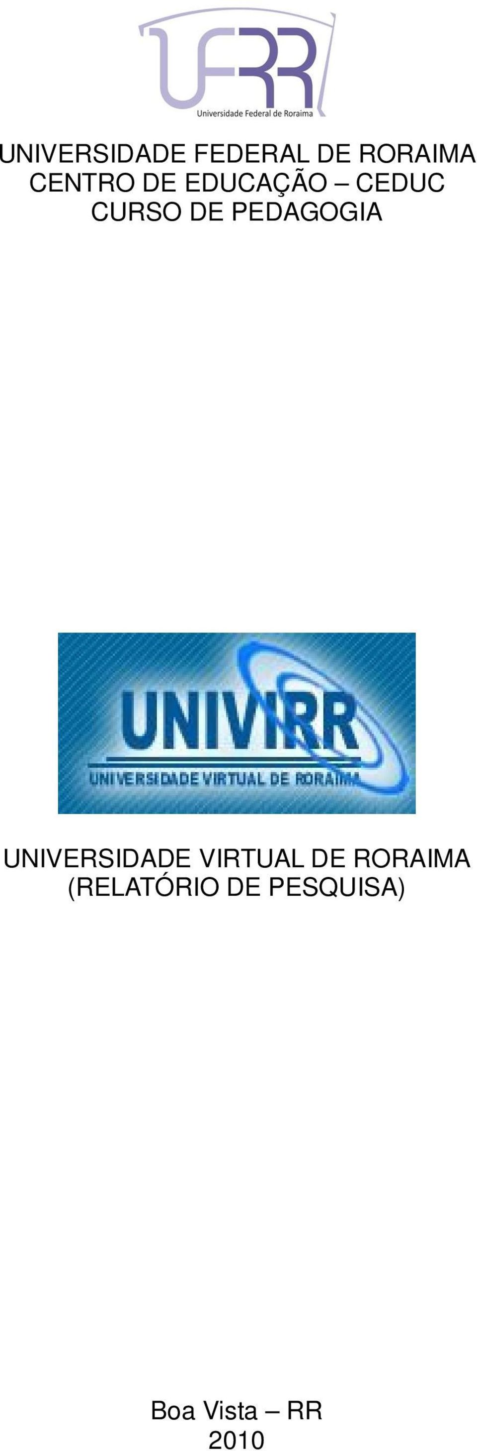 PEDAGOGIA UNIVERSIDADE VIRTUAL DE