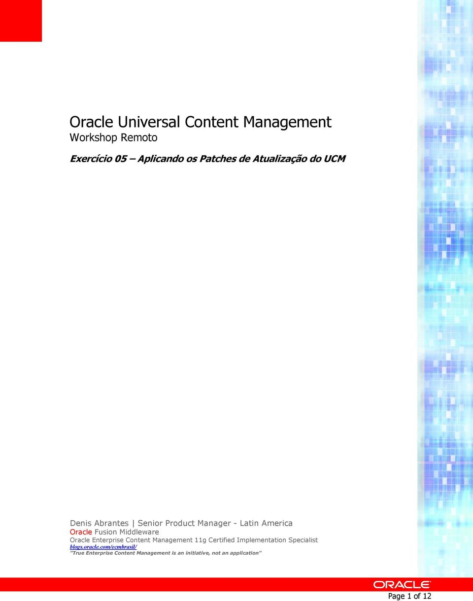 Middleware Oracle Enterprise Cntent Management 11g Certified Implementatin Specialist