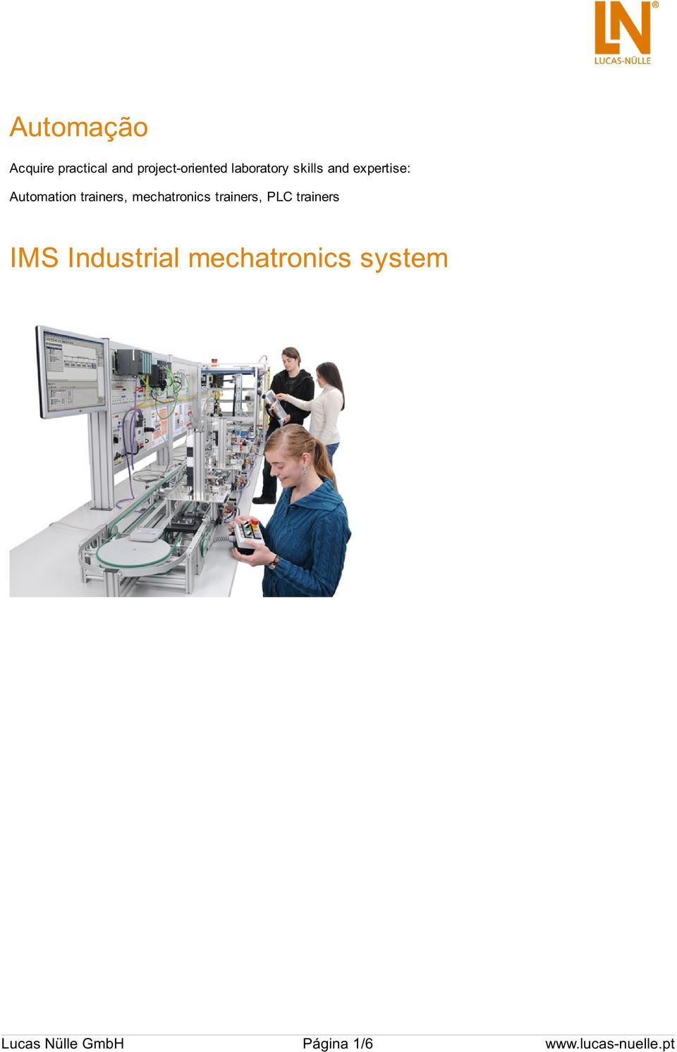 mechatronics trainers, PLC trainers IMS Industrial