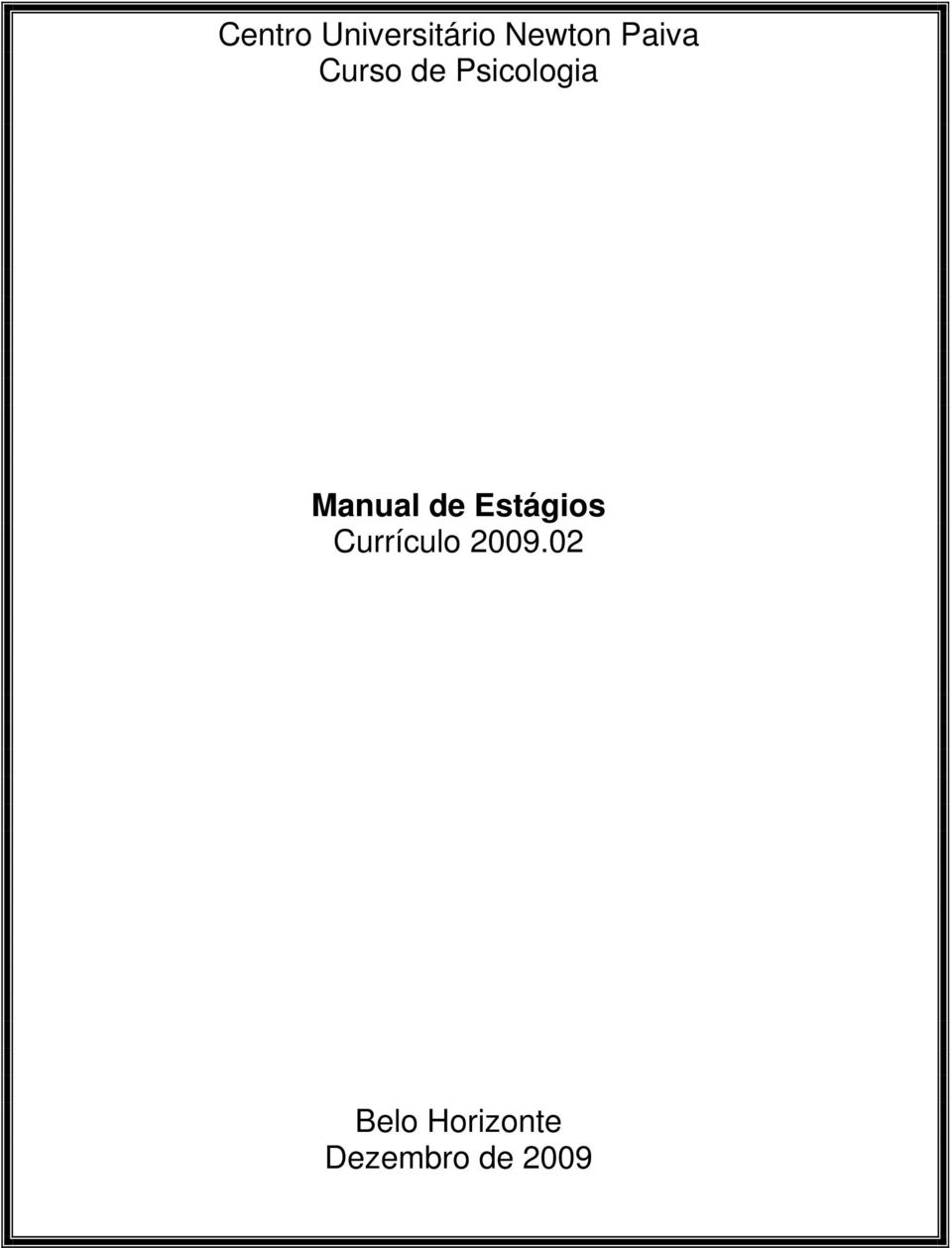 Manual de Estágios Currículo