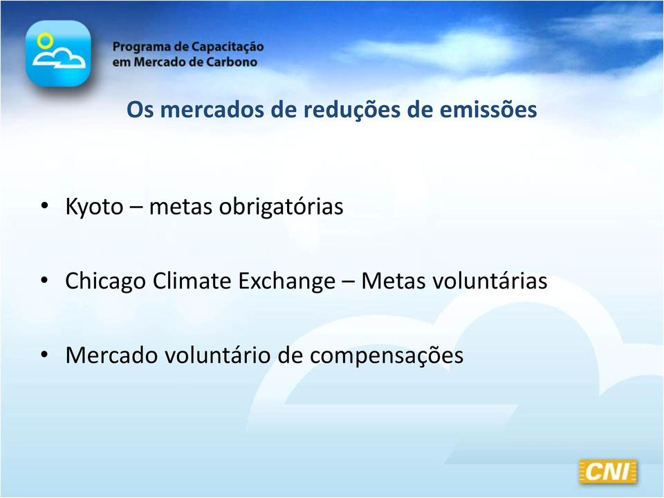 Chicago Climate Exchange Metas