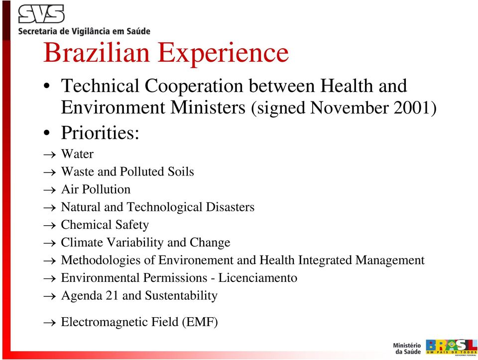 Chemical Safety Climate Variability and Change Methodologies of Environement and Health Integrated