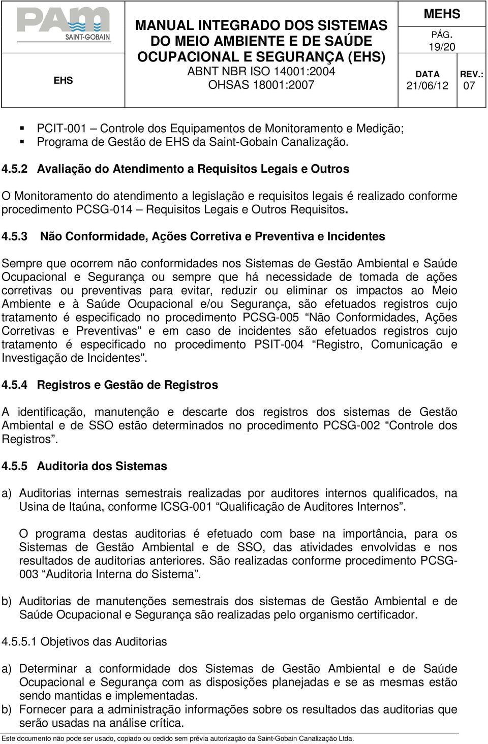 Requisitos. 4.5.