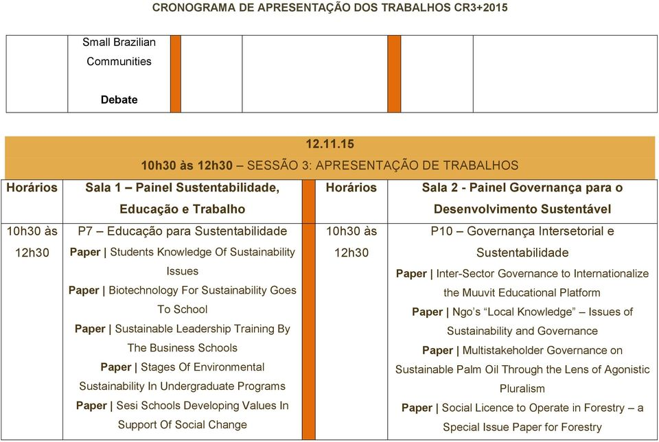 Governança Intersetorial e Paper Students Knowledge Of Sustainability 12h30 Issues Paper Inter-Sector Governance to Internationalize Paper Biotechnology For Sustainability Goes the Muuvit Educational