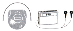 7. To use the FM radio, press the INPUT. The display shows the radio and the corresponding frequency.