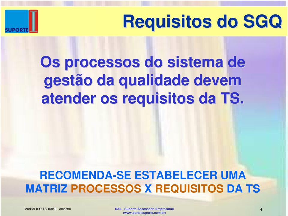requisitos da TS.