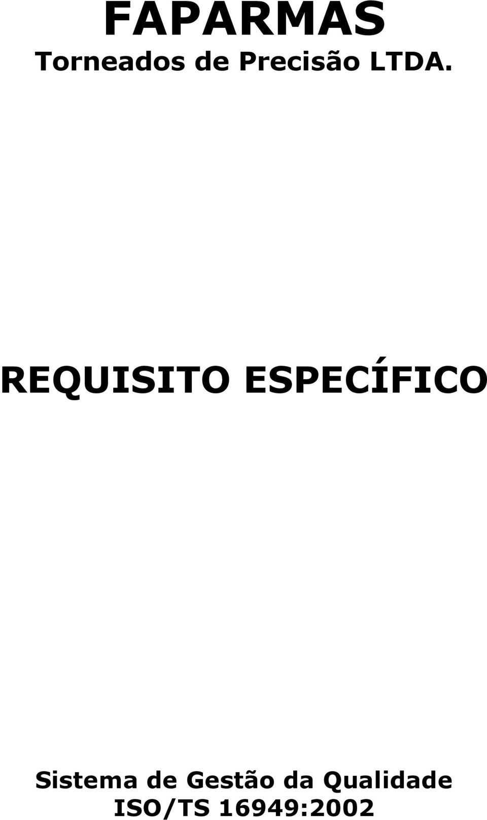 REQUISITO ESPECÍFICO
