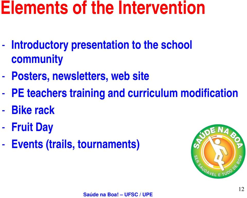 newsletters, web site - PE teachers training i and