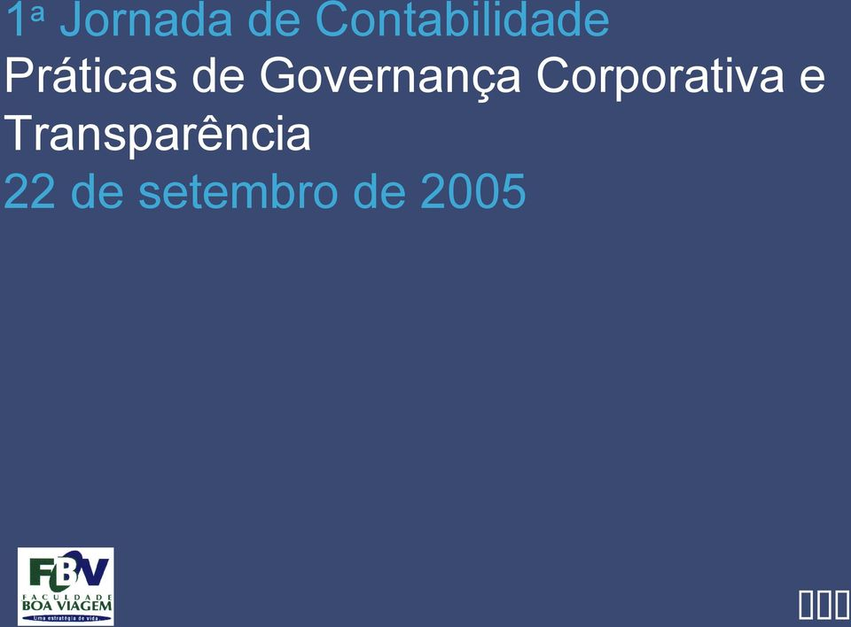 Governança Corporativa e