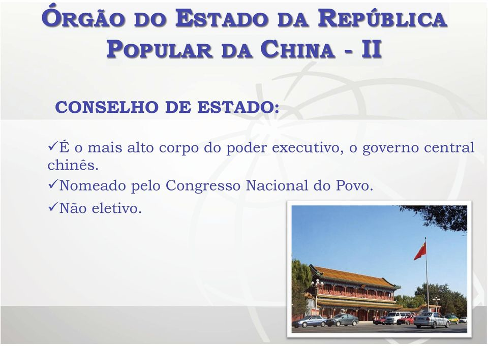 governo central chinês.
