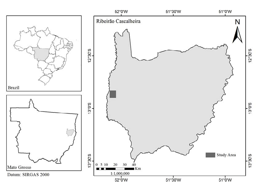 Orchid bees in the ecotone Cerrado-Amazonian forest, Brazil Figure 1. Map of Mato Grosso, with inset of the municipality of Ribeirão Cascalheira, Brazil.