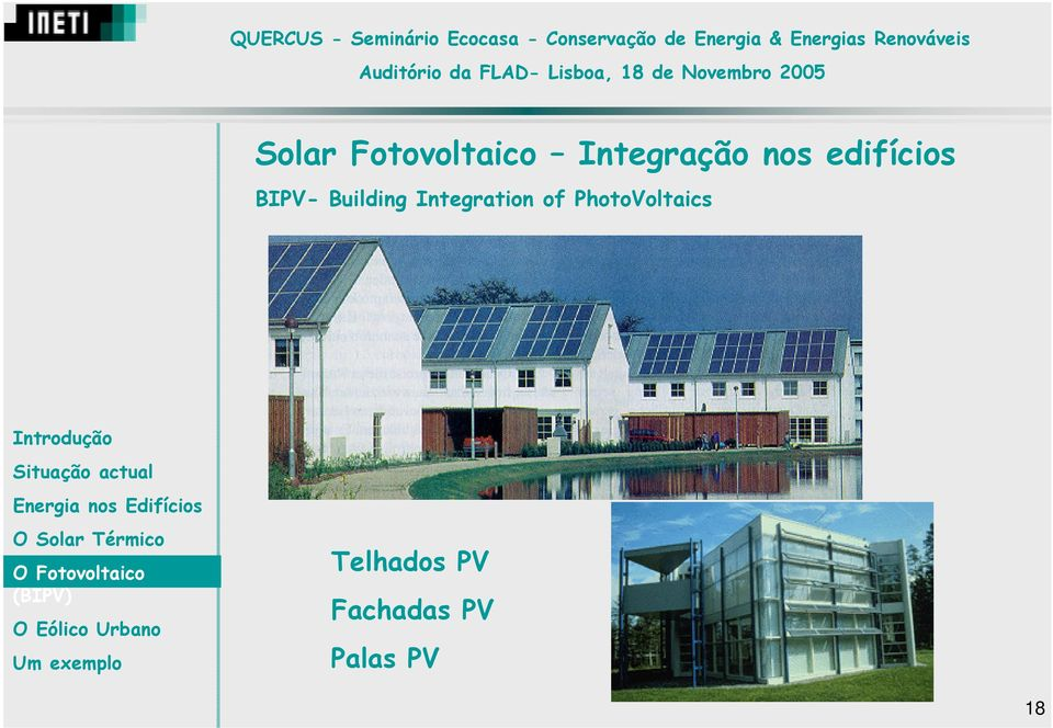Integration of PhotoVoltaics