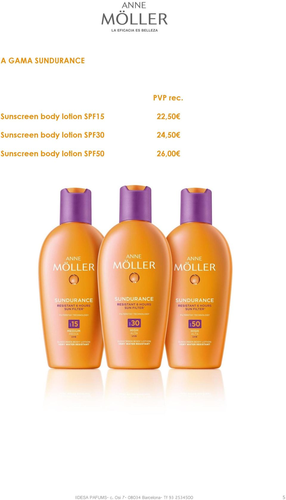 body lotion SPF30 24,50 Sunscreen body lotion