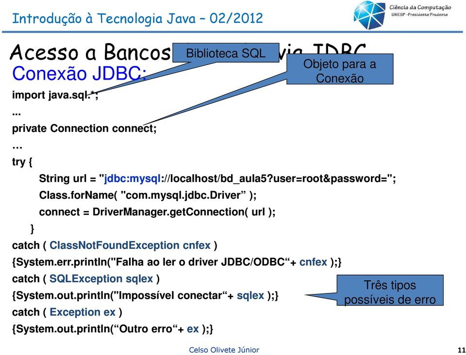 "forName( ""com.mysql.jdbc.driver ); connect = DriverManager.getConnection getconnection( url ); catch ( ClassNotFoundException cnfex ) {System.err."