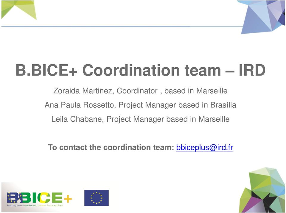 Project Manager based in Brasília Leila Chabane, Project