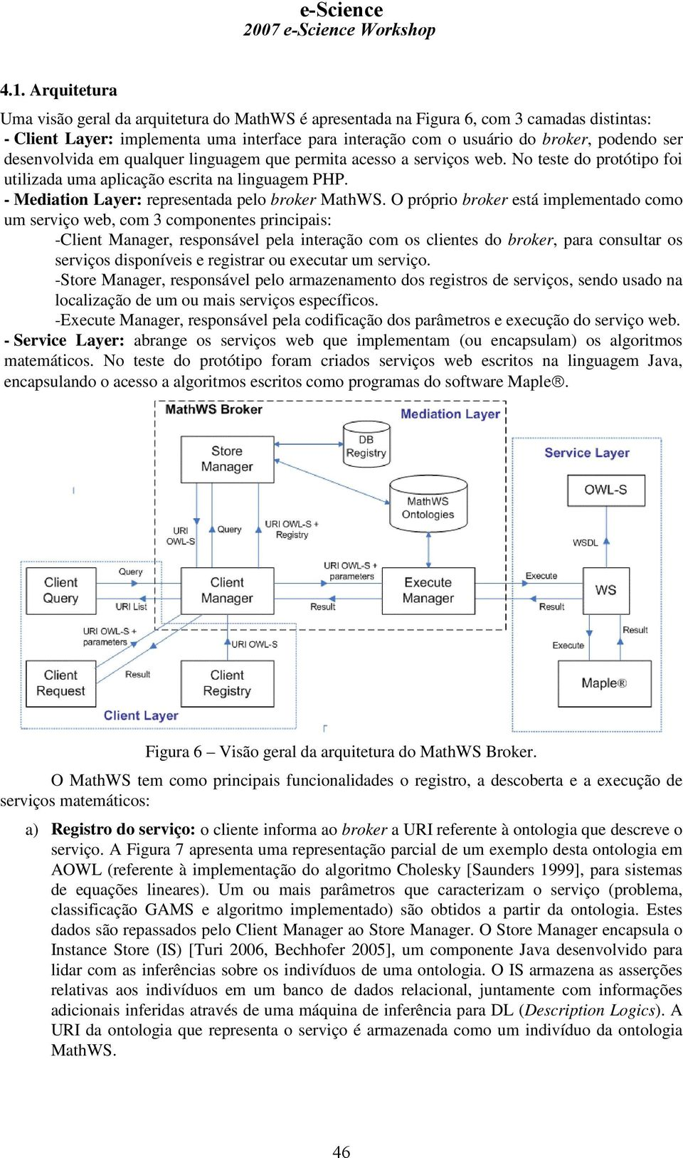 - Mediation Layer: representada pelo broker MathWS.